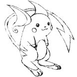 Raichu, Raichu Is Smiling Coloring Page: Raichu is Smiling Coloring Page