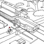 Railroad, Railroad Cross Coloring Page: Railroad Cross Coloring Page