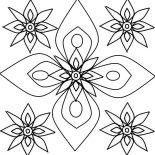 Rangoli, Rangoli Flower Petals Design Coloring Page: Rangoli Flower Petals Design Coloring Page