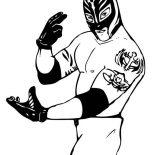 Wrestling, Rey Mysterio From World Wrestling Entertainment  Coloring Page: Rey Mysterio from World Wrestling Entertainment  Coloring Page