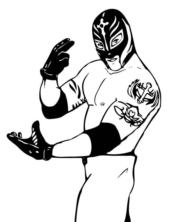 Wrestling, : Rey Mysterio from World Wrestling Entertainment  Coloring Page