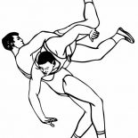 Wrestling, Roman Wrestling Style Coloring Page: Roman Wrestling Style Coloring Page