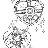 Sailor Moon, Sailor Moon Make Up Coloring Page: Sailor Moon Make Up Coloring Page