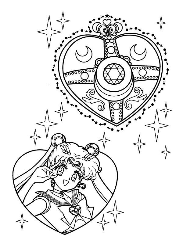 Sailor Moon, : Sailor Moon Make Up Coloring Page