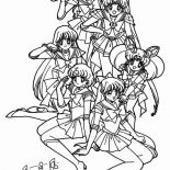Sailor Moon, Sailor Moon Poster Coloring Page: Sailor Moon Poster Coloring Page