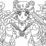 Sailor Moon, Sailor Moon Protecting Earth From Dark Kingdom  Coloring Page: Sailor Moon Protecting Earth from Dark Kingdom  Coloring Page