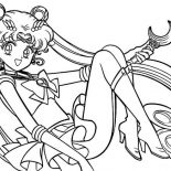 Sailor Moon, Sailor Moon Silver Moon Christal Power Coloring Page: Sailor Moon Silver Moon Christal Power Coloring Page