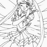 Sailor Moon, Sailor Moon Soldier Of Love And Justice Coloring Page: Sailor Moon Soldier of Love and Justice Coloring Page