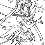Sailor Moon, Sailor Moon Sparkling Sensation Coloring Page: Sailor Moon Sparkling Sensation Coloring Page