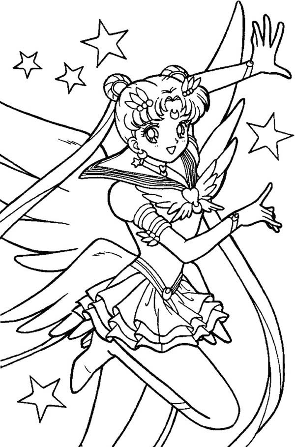 Sailor Moon, : Sailor Moon Sparkling Sensation Coloring Page