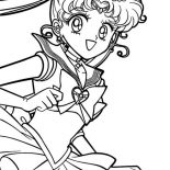 Sailor Moon, Sailor Moon Tsukino Usagi Coloring Page: Sailor Moon Tsukino Usagi Coloring Page