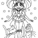 Sailor Moon, Sailor Moon And Luna Coloring Page: Sailor Moon and Luna Coloring Page