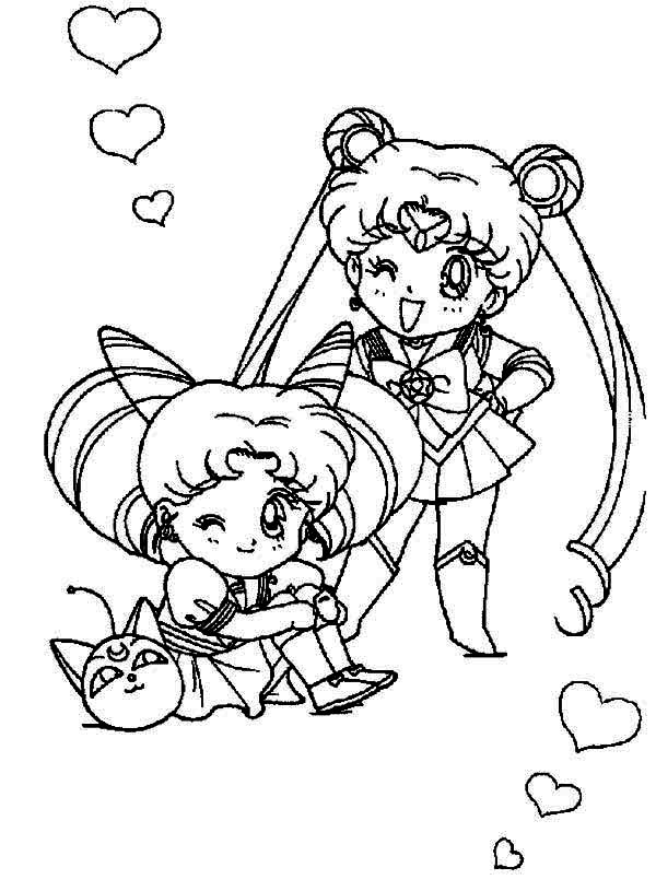 chibi moon coloring pages - photo#14