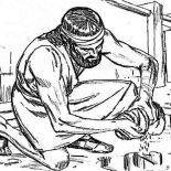 Samson, Samson Picture Coloring Page: Samson Picture Coloring Page