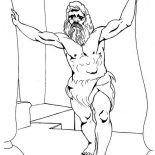 Samson, Samson Super Power Coloring Page: Samson Super Power Coloring Page