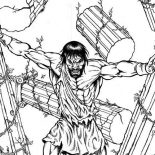 Samson, Samson The Strongest Human Coloring Page: Samson The Strongest Human Coloring Page