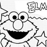 Sesame Street, Sesame Street Opening By Elmo Coloring Page: Sesame Street Opening by Elmo Coloring Page