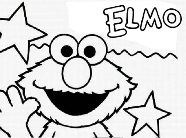 Sesame Street, : Sesame Street Opening by Elmo Coloring Page