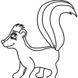Skunk, Skunk Smile Coloring Page: Skunk Smile Coloring Page