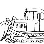 Digger, Snow Mover In Digger Coloring Page: Snow Mover in Digger Coloring Page