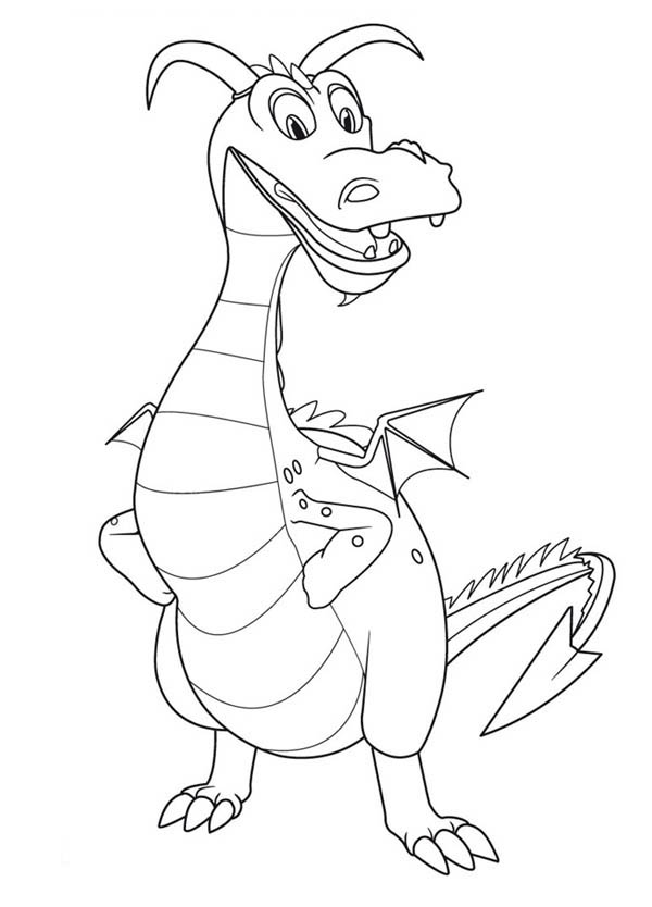 Mike the Knight, : Sparkie Hand on Hips in Mike the Knight Coloring Page