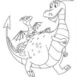 Mike the Knight, Sparkie And Squirt In Mike The Knight Coloring Page: Sparkie and Squirt in Mike the Knight Coloring Page