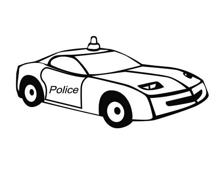 Police Car, : Special Response Teams Police Car Coloring Page