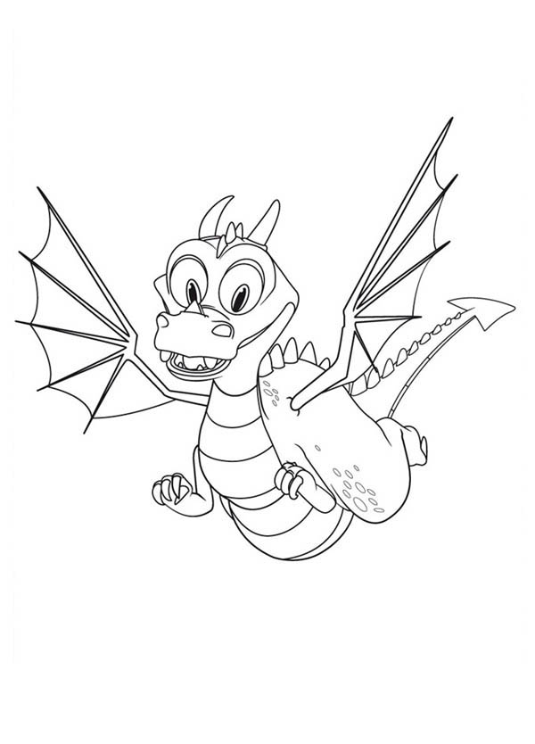 Mike the Knight, : Squirt is Flying in Mike the Knight Coloring Page