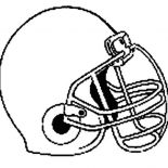 NFL, Standard Helmet For NFL Game Coloring Page: Standard Helmet for NFL Game Coloring Page