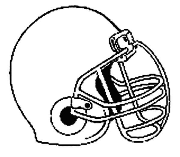 NFL, : Standard Helmet for NFL Game Coloring Page