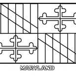 State Flag, State Flag Of Maryland Coloring Page: State Flag of Maryland Coloring Page