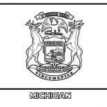State Flag, State Flag Of Michigan Coloring Page: State Flag of Michigan Coloring Page
