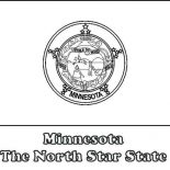 State Flag, State Flag Of Minnesota Coloring Page: State Flag of Minnesota Coloring Page