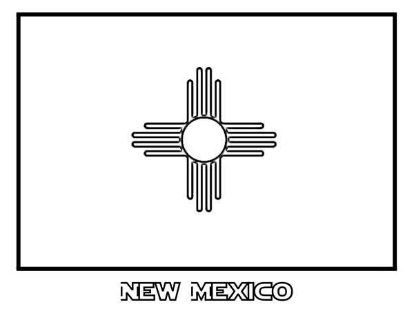 State Flag, : State Flag of New Mexico Coloring Page