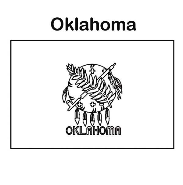 State Flag, : State Flag of Oklahoma Coloring Page