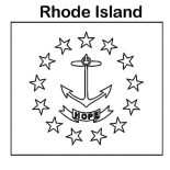 State Flag, State Flag Of Rhode Island Coloring Page: State Flag of Rhode Island Coloring Page