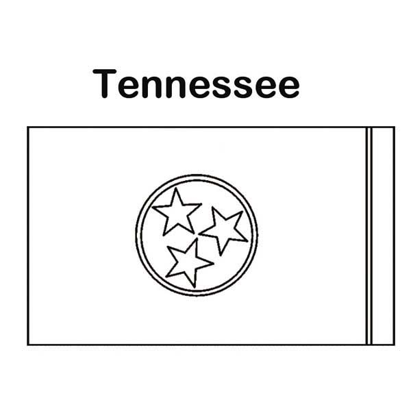 State Flag, : State Flag of Tennessee Coloring Page