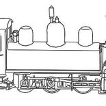 Trains, Steam Train Coloring Page For Kids: Steam Train Coloring Page for Kids