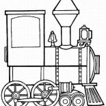 Trains, Steam Train Locomotive Coloring Page: Steam Train Locomotive Coloring Page