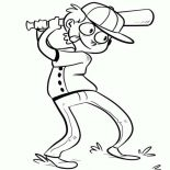 MLB, Strike One In MLB Coloring Page: Strike One in MLB Coloring Page