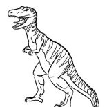 T-Rex, Stripping T Rex Coloring Page: Stripping T Rex Coloring Page