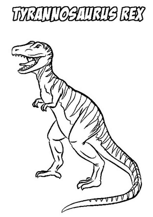 T-Rex, : Stripping T Rex Coloring Page