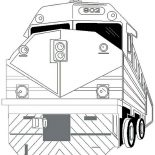Trains, Strong Locomotive Train Coloring Page: Strong Locomotive Train Coloring Page
