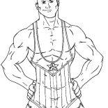 Wrestling, Strong Wrestling Contender Coloring Page: Strong Wrestling Contender Coloring Page