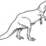 T-Rex, T Rex Had Short Hand Coloring Page: T Rex Had Short Hand Coloring Page
