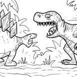 T-Rex, T Rex Had A Lot Of Sharp Teeth Coloring Page: T Rex Had a Lot of Sharp Teeth Coloring Page