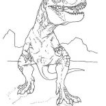 T-Rex, T Rex Looking For Food Coloring Page: T Rex Looking for Food Coloring Page