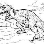 T-Rex, T Rex Opening His Mouth Wide Coloring Page: T Rex Opening His Mouth Wide Coloring Page