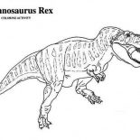 T-Rex, T Rex Is For Tyrannosaurus Coloring Page: T Rex is for Tyrannosaurus Coloring Page