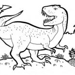 T-Rex, T Is For T Rex Coloring Page: T is for T Rex Coloring Page